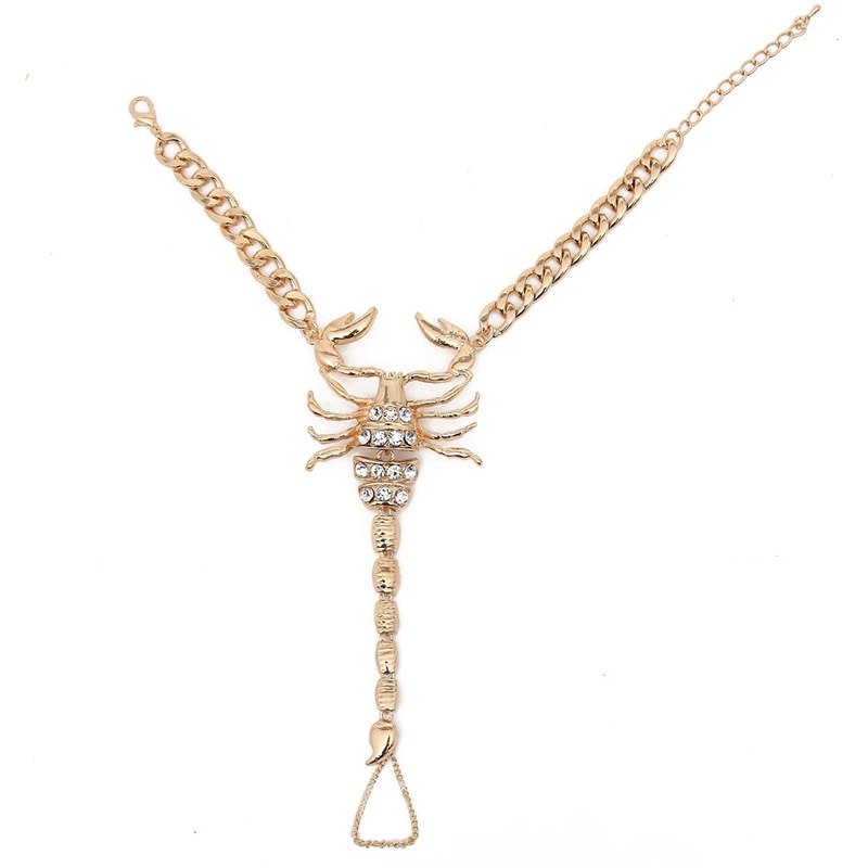 Ericdress Personality Scorpion Design Diamante Alloy Anklet