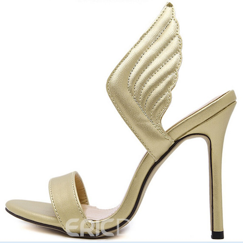 Ericdress Sexy 3D Wings Decorated Stiletto Sandals