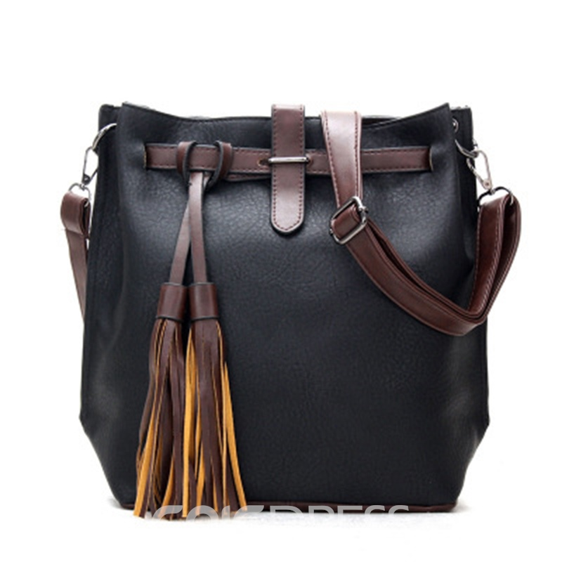 Ericdress Retro Big Capacity Tassel Bucket Crossbody Bag