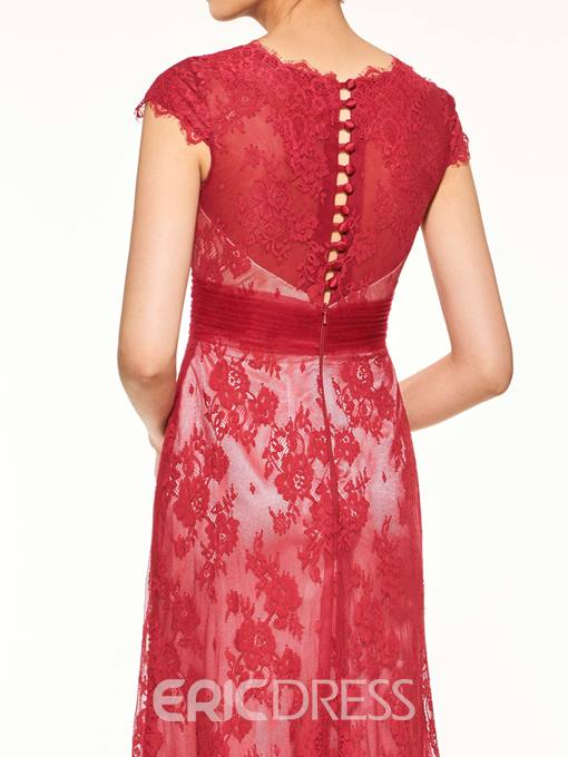 Ericdress Fashionable Cap Sleeves A Line Lace Mother Of The Bride Dress