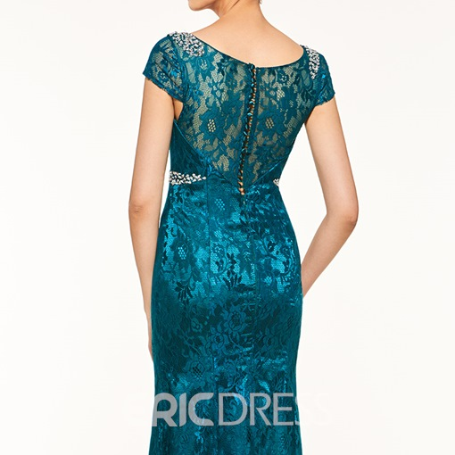 Ericdress Elegant Scoop Short Sleeves Lace Sheath Mother Of The Bride Dress