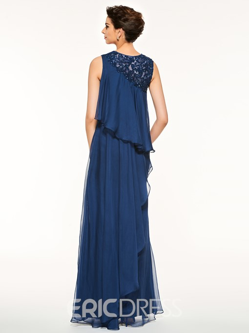 Ericdress Jewel Neck Appliques Beading Mother Of The Bride Dress