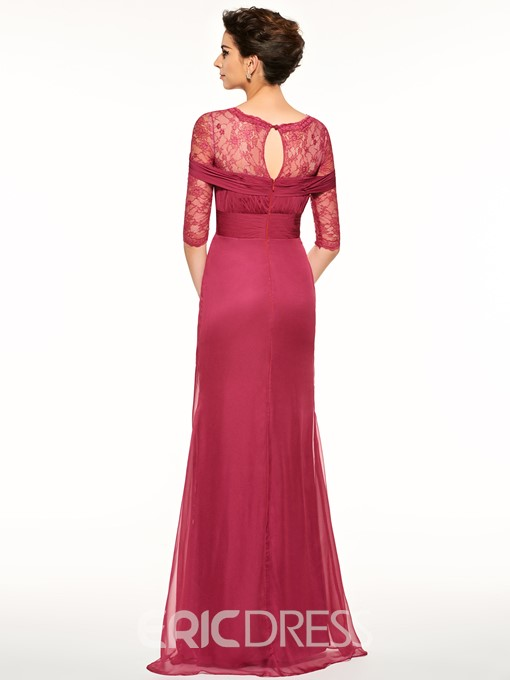 Ericdress Scoop Half Sleeves A Line Mother Of The Bride Dress