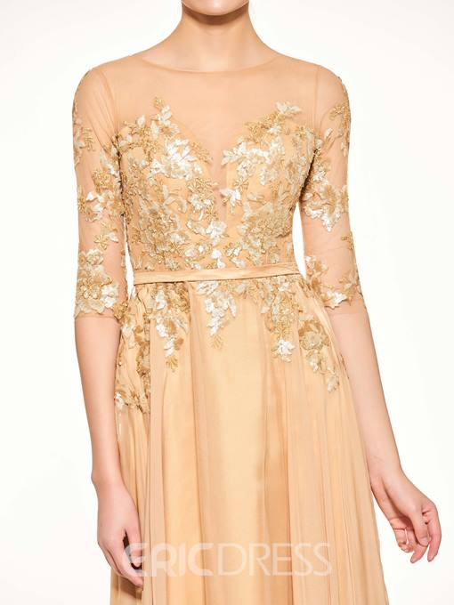 Ericdress Sequins Appliques Half Sleeves Mother of the Bride Dress