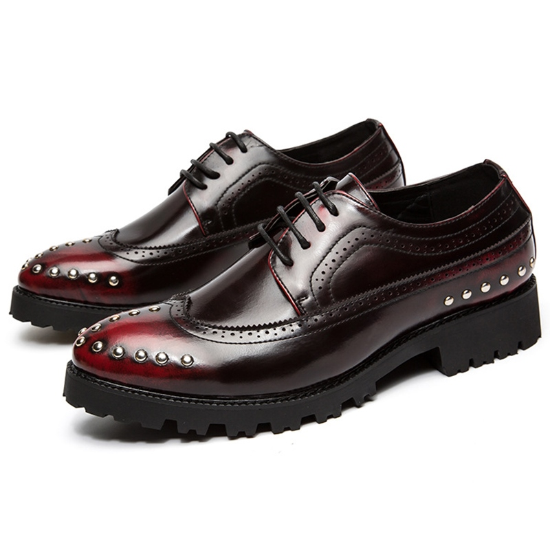 Ericdress Stylish Brush Off Rivets Men's Oxfords
