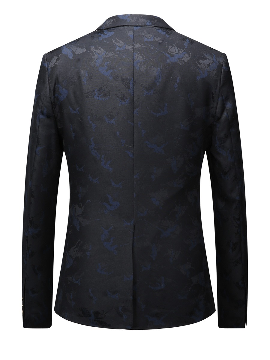Ericdress Single-Breasted Notched Lapel Print Men's Blazer