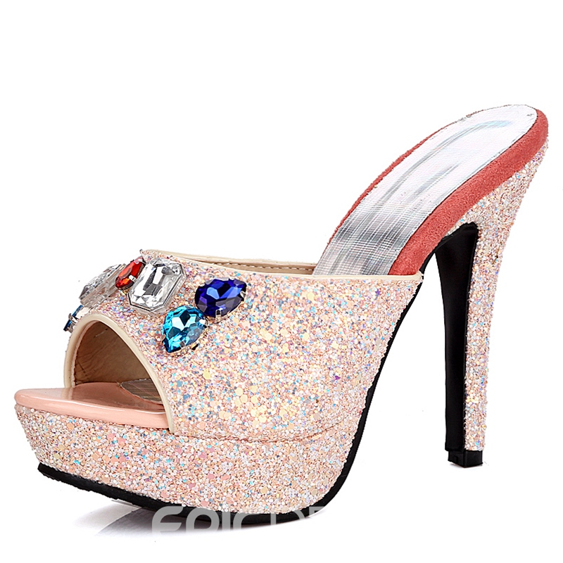 Ericdress Amazing Rhinestone&sequins Mules Shoes