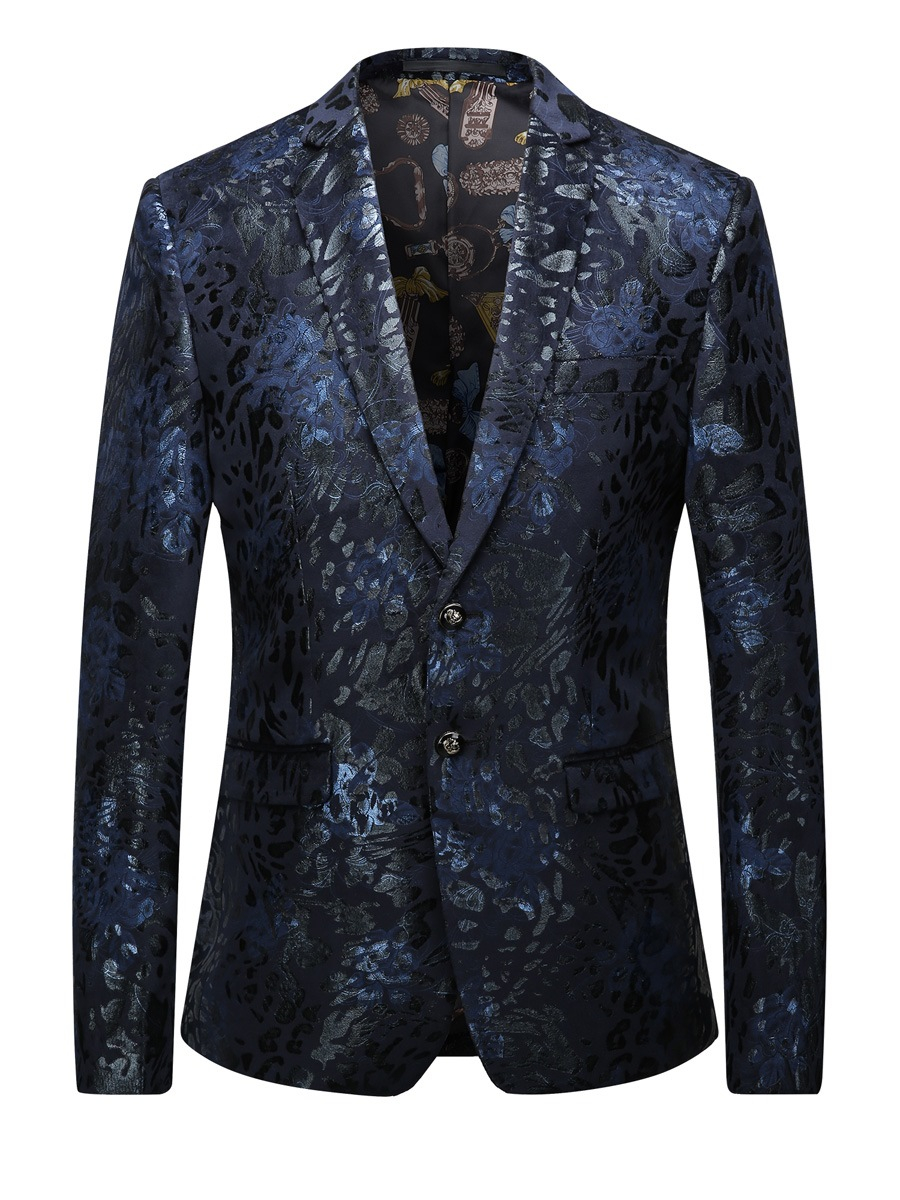Ericdress Print Lapel Color Block Men's Blazer