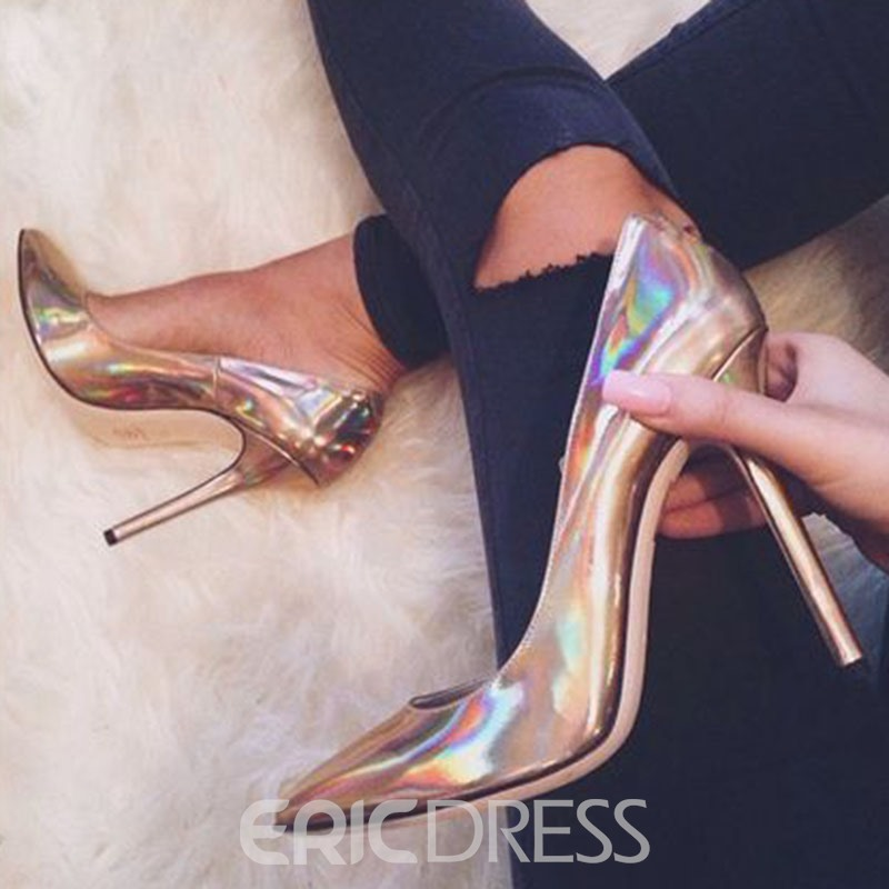 Ericdress OL Silver Point Toe Pumps