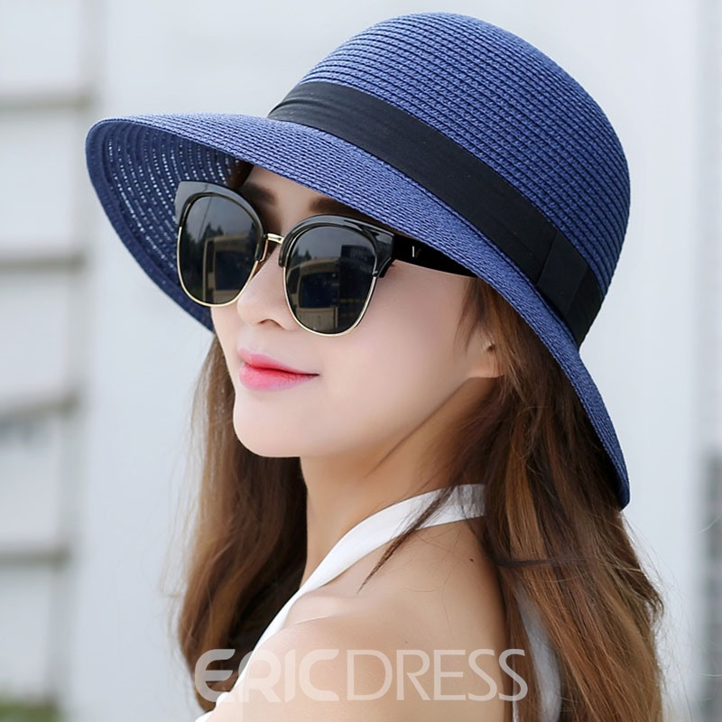 Ericdress Summer Holiday Beach Straw Hat