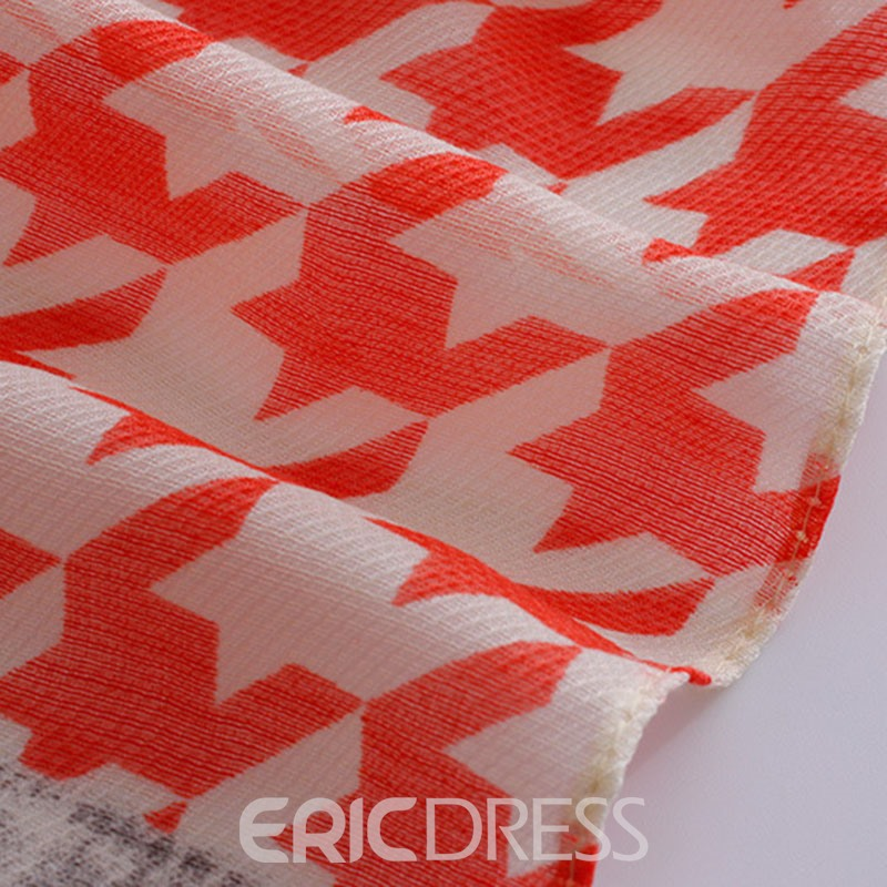Ericdress Houndstooth Tie-Dyed Thin Cotton Classic Scarf