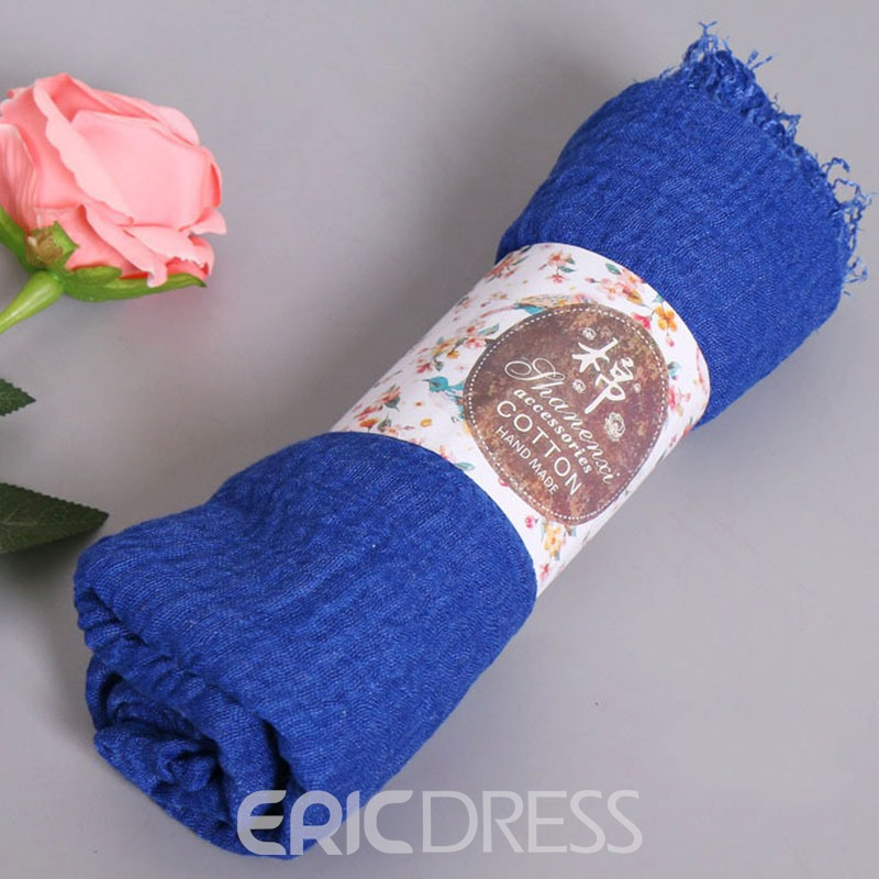 Ericdress Pleated Design Solid Color Women's Scarf