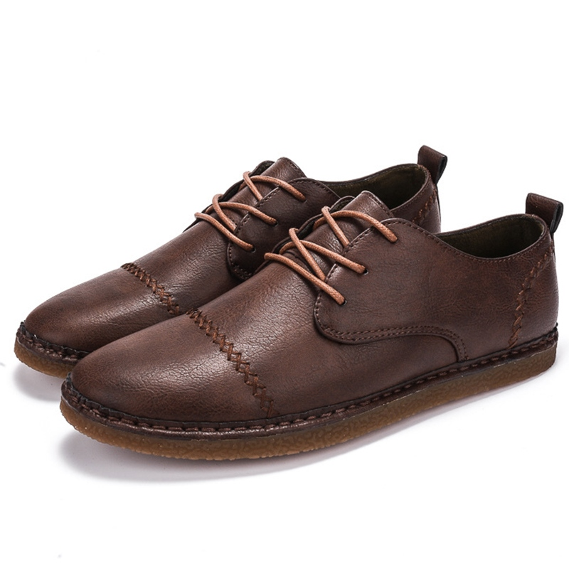 Ericdress Vintage Handmade Round Toe Men's Casual Shoes