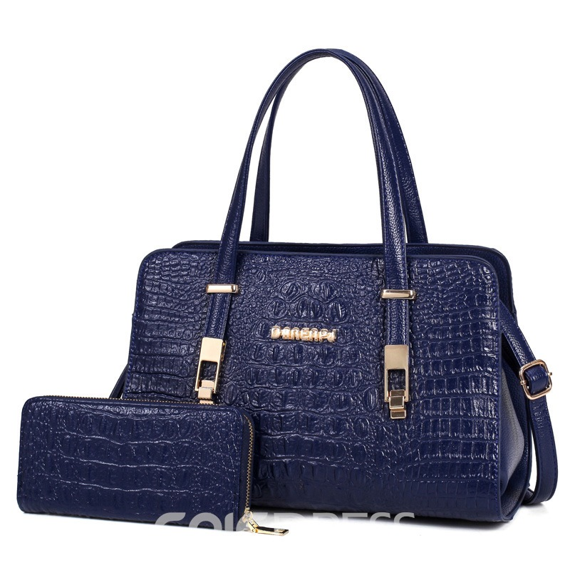 Ericdress Elegant Crocodile Embossed Handbags(2 Bags)