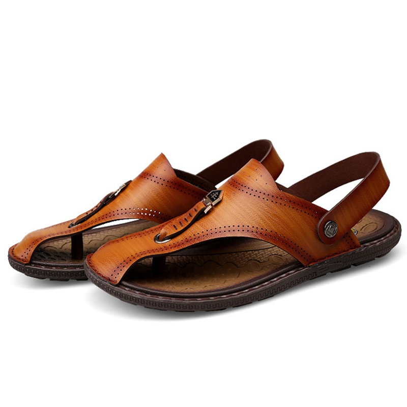 Ericdress Thread Sewing Thong Slip-On Men's Sandals