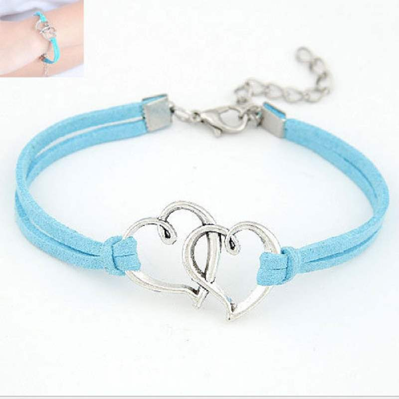 Korean Vogue Double Heart Bracelet