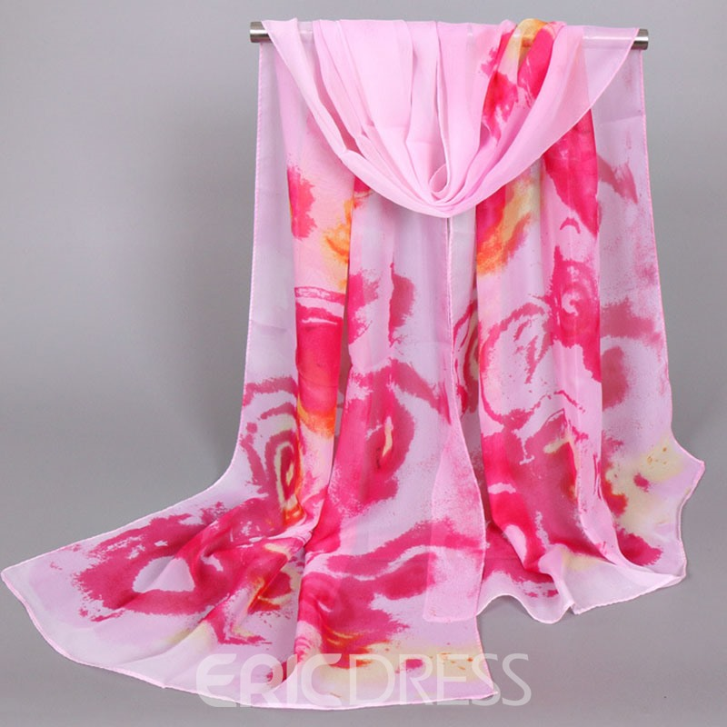 Ericdress Colorful Printing Sunscreen Chiffon Scarf