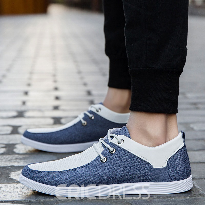 Ericdress Spring Color Block Men's Canvas Shoes