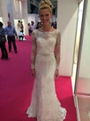 Ericdress Lace Sheath Long Sleeves Beaded Wedding Dress