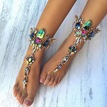 Ericdress Exotic Style Colorful Rhinestone Anklet