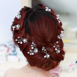 Crystal with Pearl Bridal Hairpins