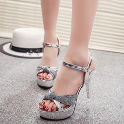 Image of Ericdress Princess Sequins Platform Stiletto Sandals