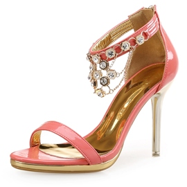 Ericdress Concise Tassels Decorated Back Zipper Stiletto Sandals