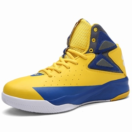 Ericdress Bright Color Block Round Toe Men's Basketball Shoes