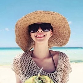 Ericdress Concise Wide Brim Straw Plaited Article Sun Hat