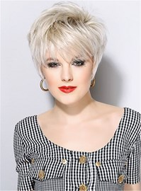 Ericdress Short Haircuts Full Bangs Straight Synthetic Hair Capless wig 8 Inches