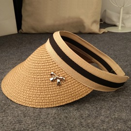 Ericdress Visor Crown Design Concise Sunscreen Straw Hat