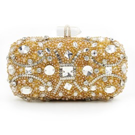 Ericdress Upscale Geometric Diamante Evening Clutch