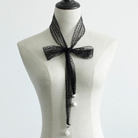 Ericdress Metal Ornaments Long Lace Decorated Scarf