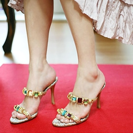 Ericdress Ethnic Colorful Rhinestone Mules Shoes