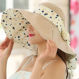 Ericdress Foldable Anti-UV Colorful Printed Cotton Sun Hat