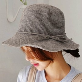 Ericdress Straw Plaited Article Pure Color Summer Hat