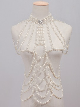 Ericdress Artificial Pearls Vintage Style Multilayer Body Chain
