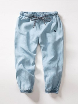 Ericdress Cotton Denim Lace-Up Casual Boys Jeans