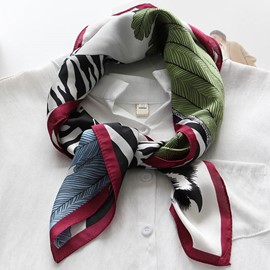 Ericdress Spring Thin Zebra Stripes Printed Square Scarf