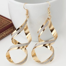 Ericdress Exaggerated Twist Stoving Varnish Long Earrings