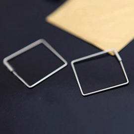 Ericdress Metal Simple Square Design Hollow Earrings