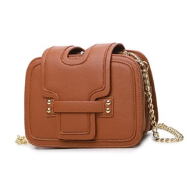 ericdress bolsa crossbody del bloque del color de tres capas