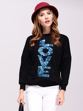 Ericdress Casual Letters Plus Size Hoodie