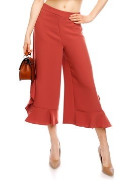 Ericdress Loose Ruffles Wide Leg Women's Pants