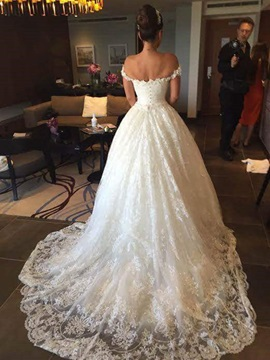 Ericdress Lace Ball Gown Off The Shoulder Wedding Dress