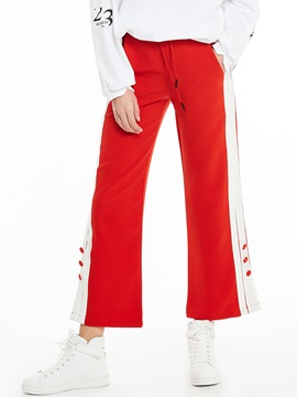 Loose Stripe Patchwork Wide Legs Pants