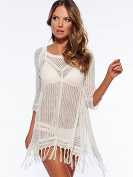 Ericdress Plain Hollow Knitting Cover-Up