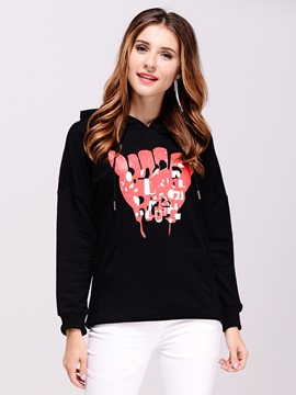 Ericdress Printed Casual Plus Size Hoodie