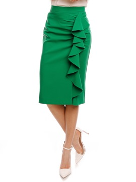 Ericdress Bodycon Ruffles Mid-Calf Women's Skirt