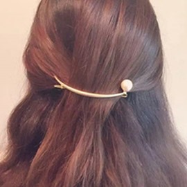 Ericdress Metal Crescent Shaped Pearl Hair Accessory